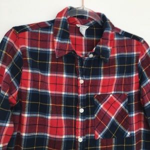 Forever 21 Tops - Forever 21 Plaid Button Down Cotton Shirt